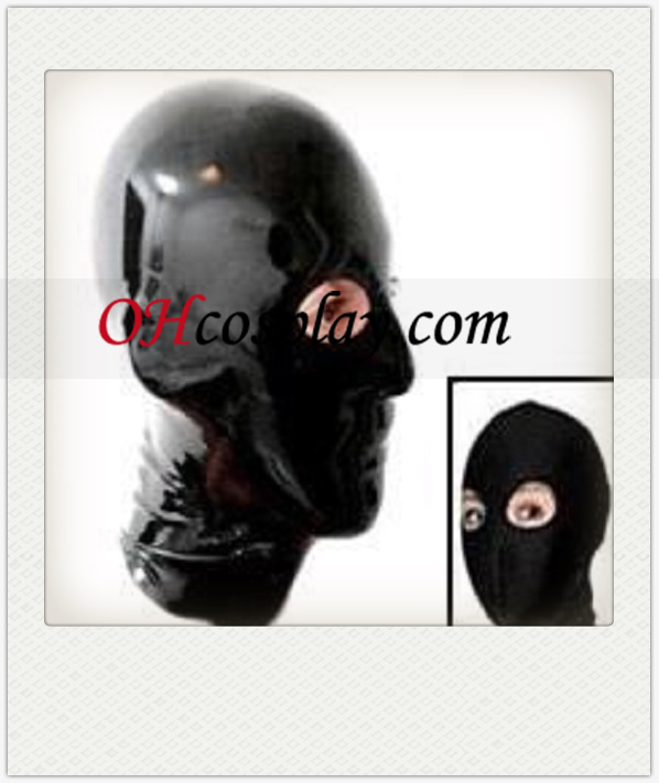 Shiny Black Cosplay Unisex Latex Mask