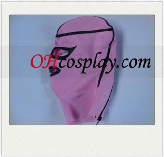 Розовый и черный Женский Латекс Маска с открытыми глазами и Mouthand Mouth