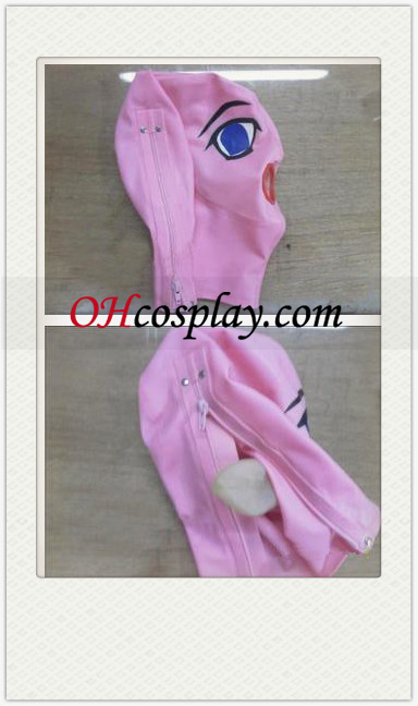 Pink Nainen Cartoon SM Latex Mask