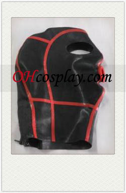 Sexy Black and Red Latex Mask with Open Eyes