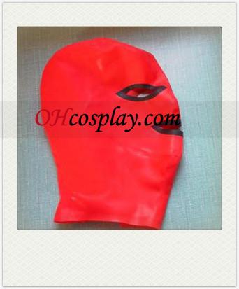 Sexy Red Latex Mask με Ανοίξτε τα μάτια και το στόμα