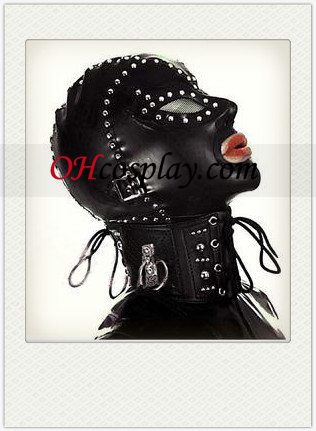 New Black Latex Mask με καρφιά, Ανοίξτε τα μάτια και το στόμα