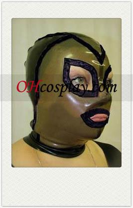 Flerfärgad Man Latex Mask med öppna ögon och mun