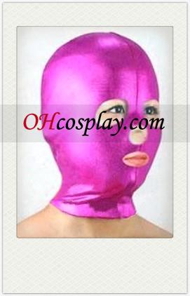 핑크 여성 라텍스 열기 눈, 코, 입에 마스크