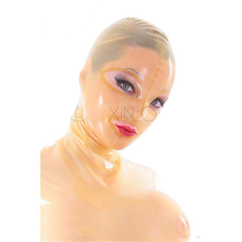 Flesh-colored Latex Mask with Open Eyes and Mouth