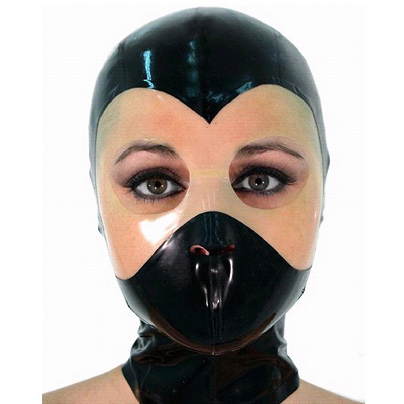 Black Face Transparent Mask with Open Eyes, Nose and Mouth
