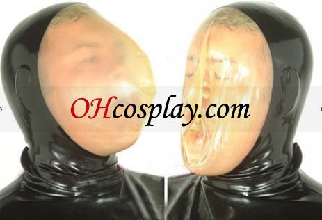 Black Face Transparent Mask