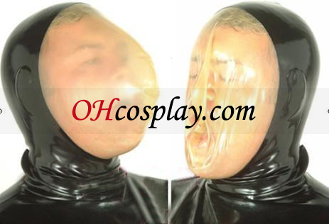 Cara preta máscara transparente