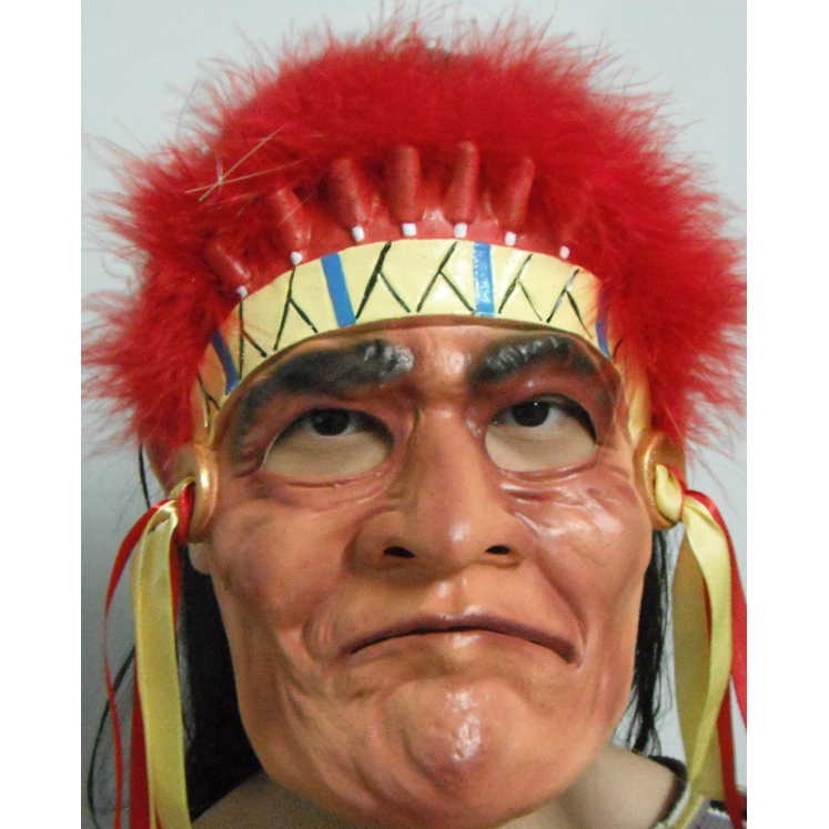 Classic Red Indian Latex Mask