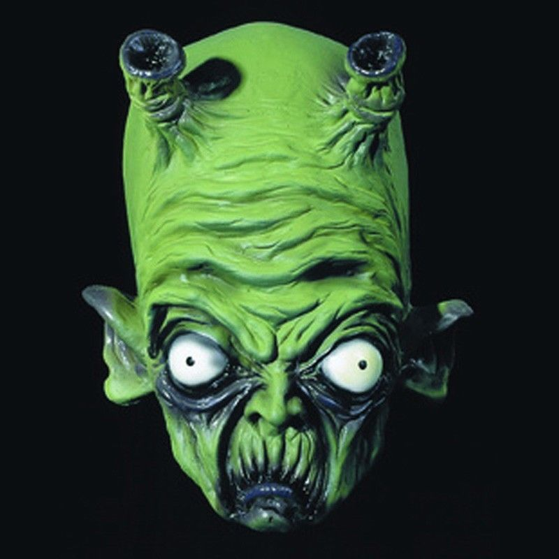 Halloween Green Alien Mask