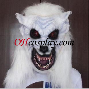 Halloween White Wolf Head Mask