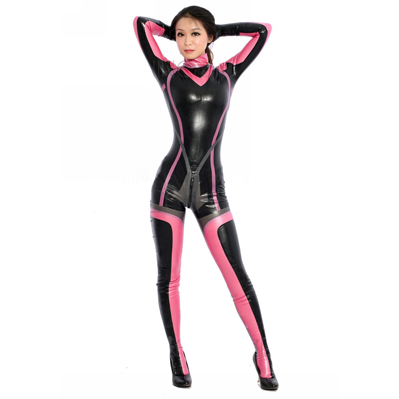 Full Body Multiple Colors Latex Costume