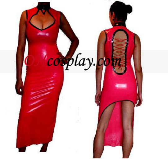 Sexy Latex Traditional Dress