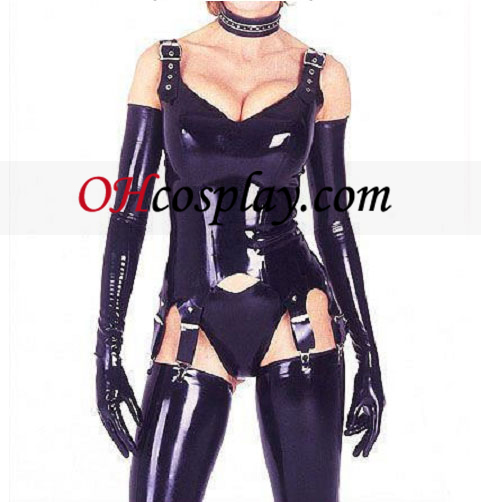 Erogene stropper Hansker Latex catsuit