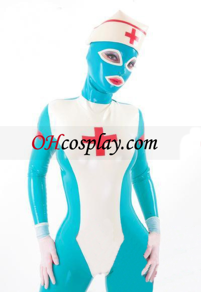 Full Body Nurse Lateks catsuit