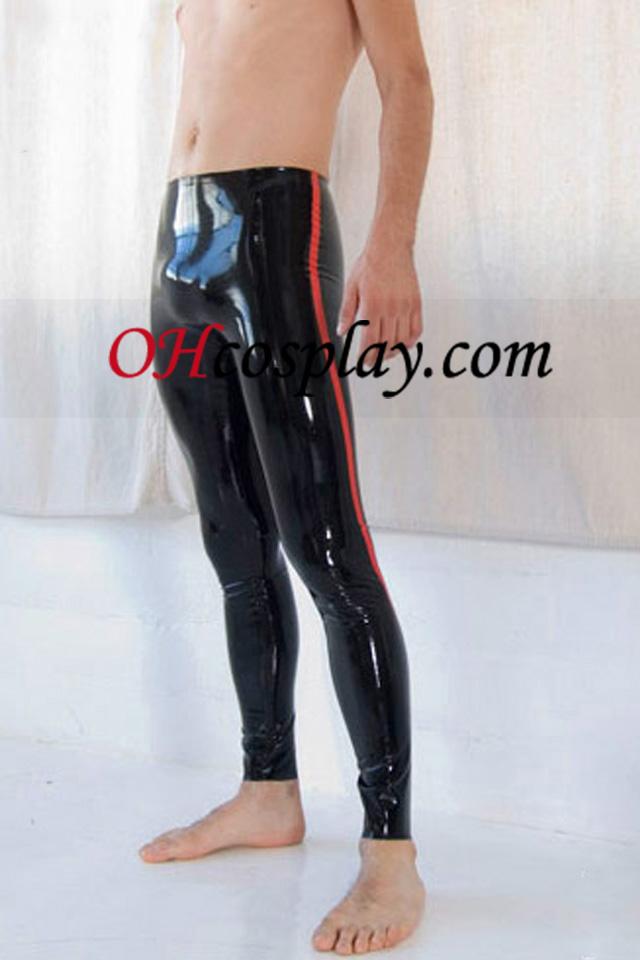 מכנסיים הלטקס של שחור ואדום הגברים