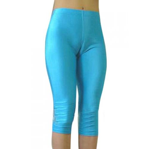 Blå Kvinna Lycra Spandex Capris byxor