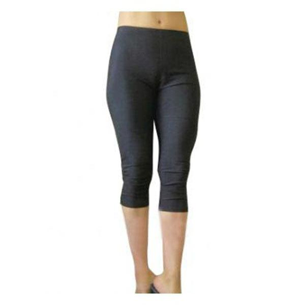 Fekete női Lycra Spandex Capris nadrág