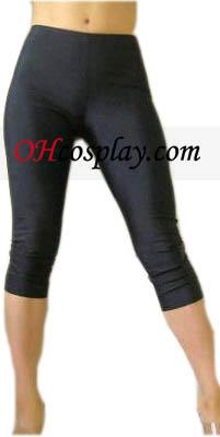 Preto Feminino Lycra Spandex Capris Pants