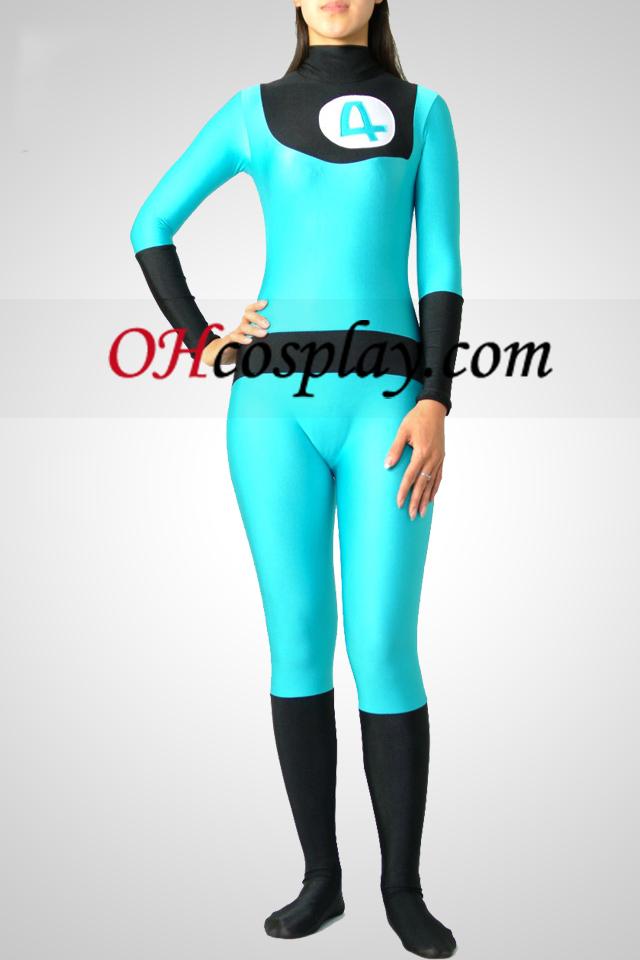 כחול ושחור לייקרה ספנדקס בגד גוף