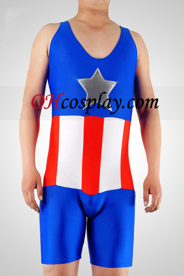 Star И Stripes Lycra Gymnasium Catsuit