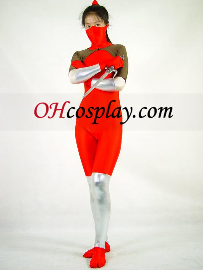 אדום לייקרה Cosplay תלבושות