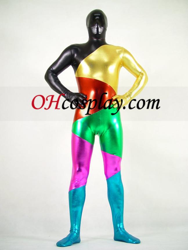 Λαμπερό κοστούμι Μεταλλικό Έξι Colers Unisex Zentai