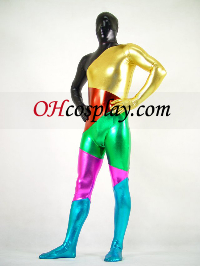 Shiny Metallic Six Colers Unisex Zentai Suit