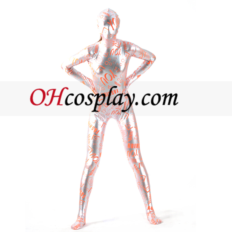 Patroon brief Mozaïek Gold Zentai Kostuums