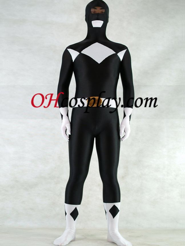 White And Black Lycra Spandex Unisex Zentai Suit