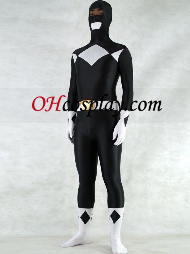 Branco E Preto Lycra Spandex Unisex Zentai Suit