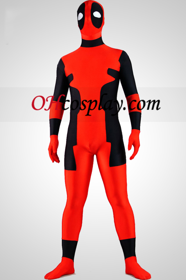 Black And Red Lycra spandex Zentai Suit
