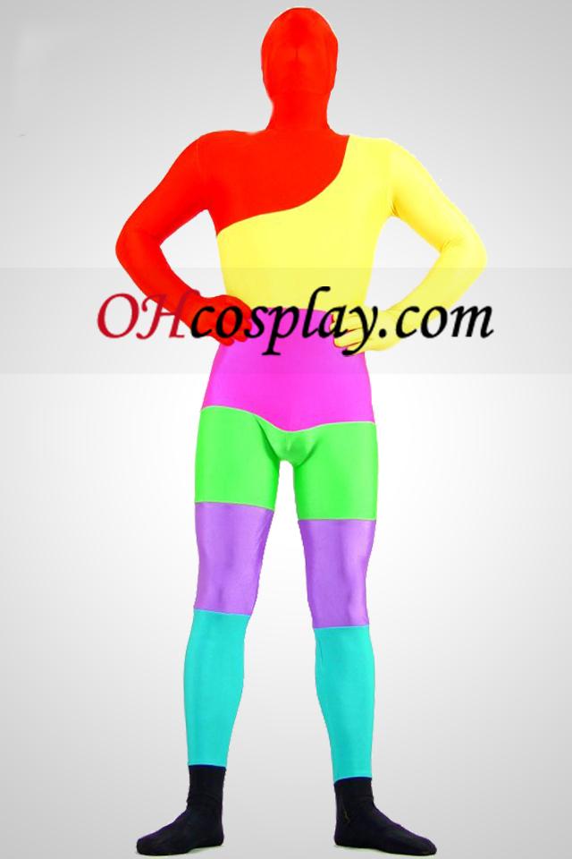 Επτά Χρώματα Lycra Spandex Zentai Suit