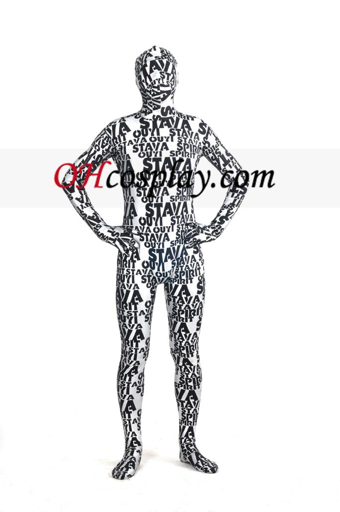 편지 금은 몸 전체 남녀 Zentai는 벌을 페인트