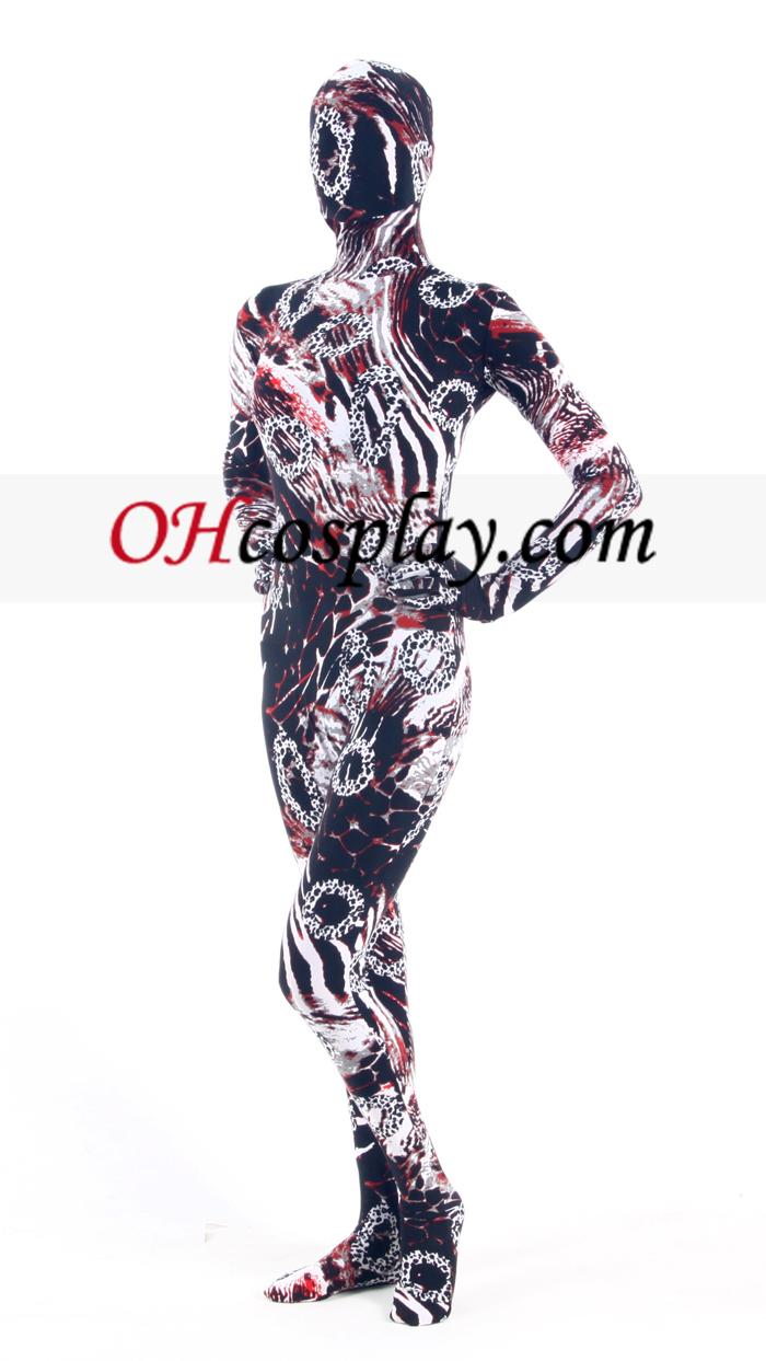 Tie Dye Lycra Зентай Suit