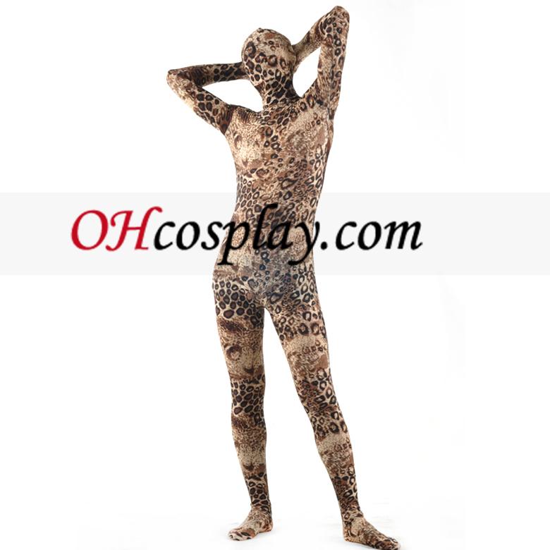 Leopard-Muster Zentai-Anzug
