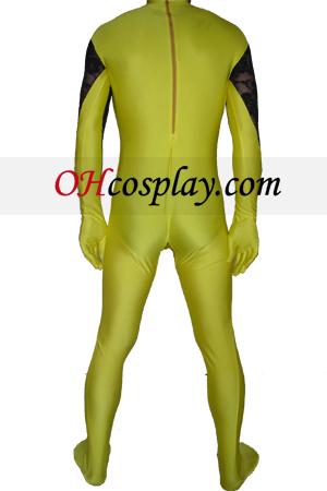 Gul Sort Lycra Lace Zentai Suit