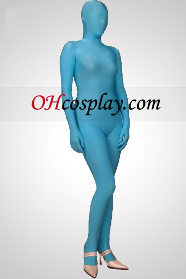 Light Blue Full Body Lycra Zentai Suit