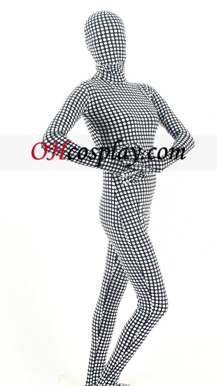 Черно бяла Проверете Lycra Зентай Suit