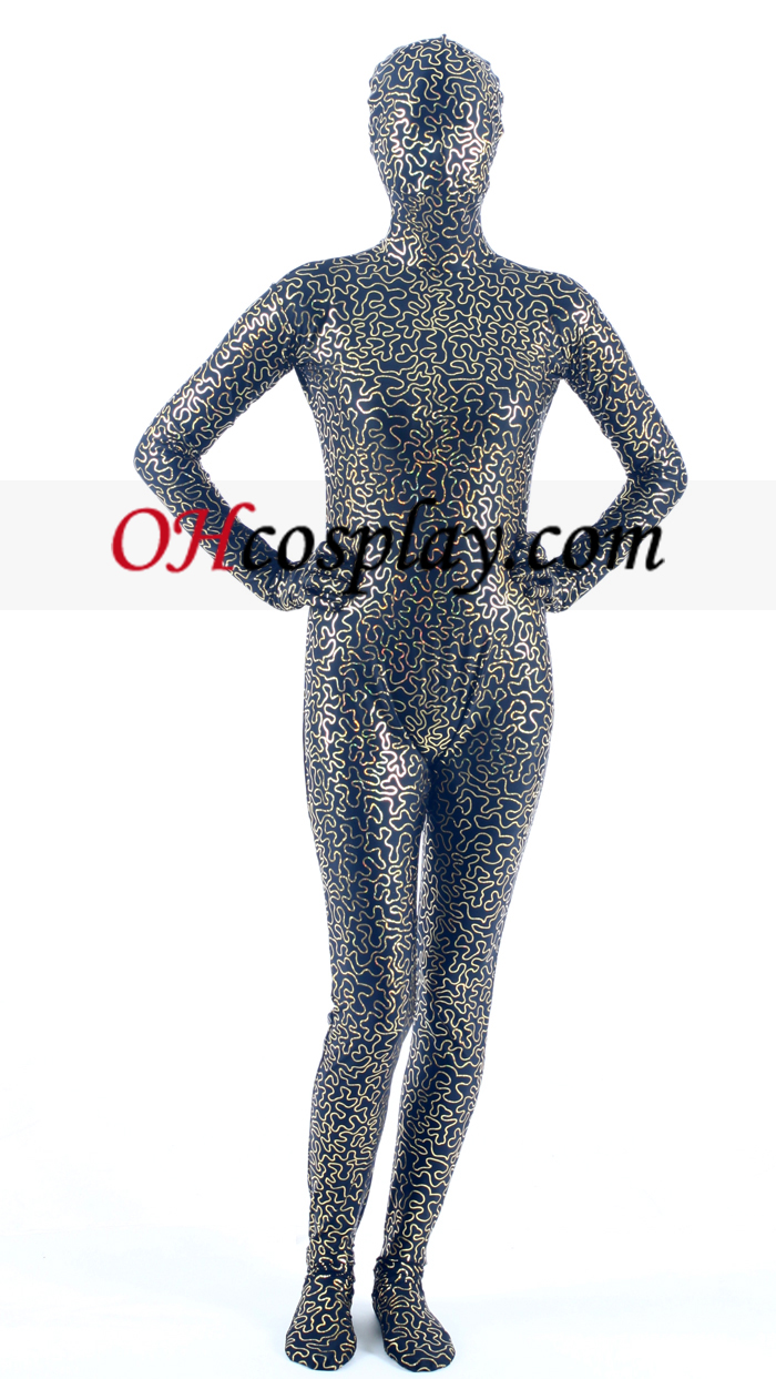 Preto Digital Lycra Zentai Suit