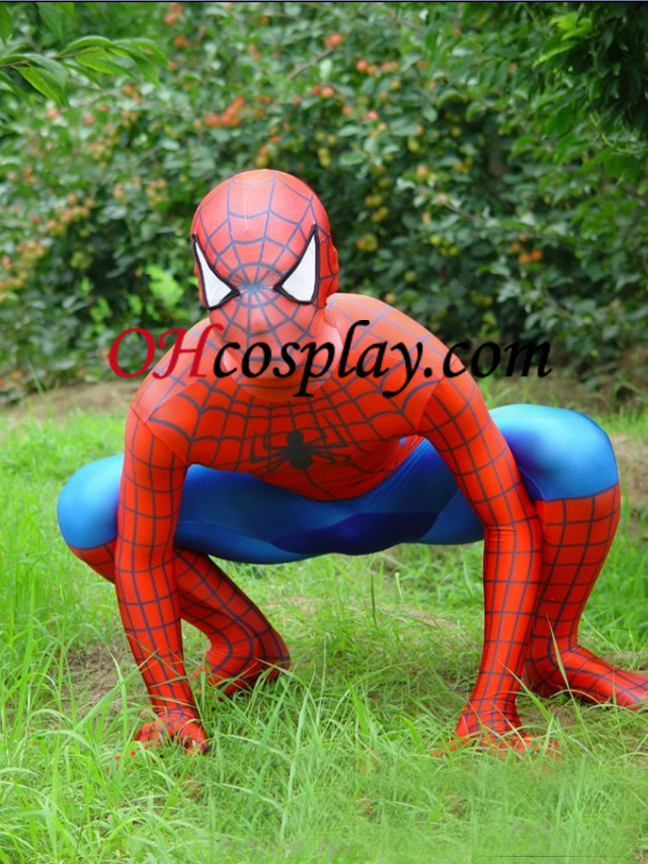 Spideman Lycra Zentai Suit Superhero