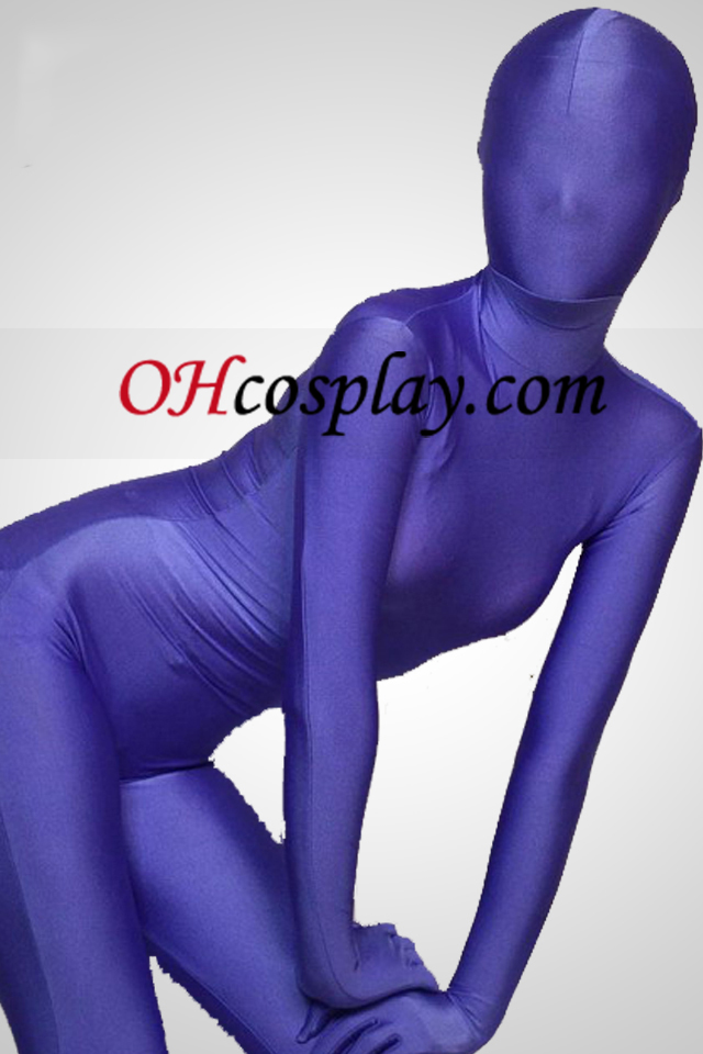 Purple Full Body Lycra Spandex Zentai Suit