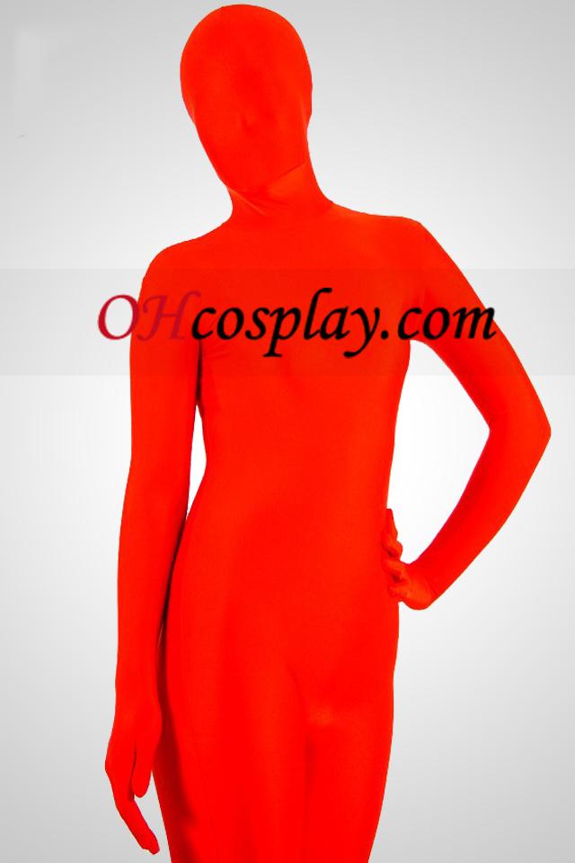 Red Spandex Lycra Zentai Unisex Suit