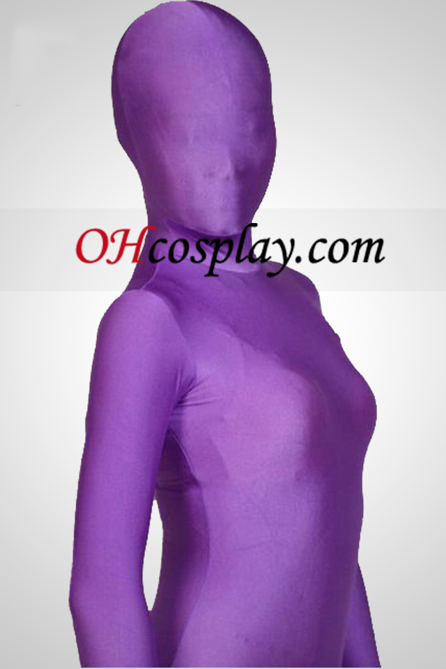 Cor Púrpura Full Body Lycra Zentai Suit