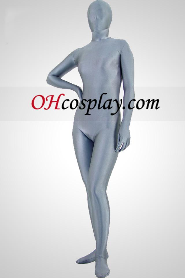 Costume sombre Gris Lycra Spandex unisexe Zentai
