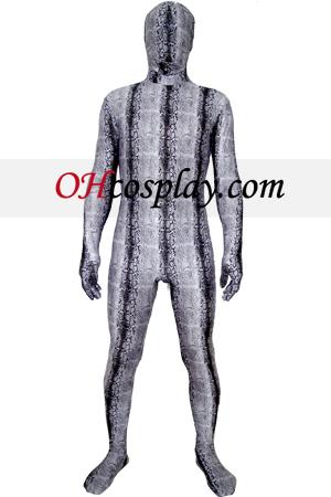 Cinza Spandex Lycra Zentai Suit