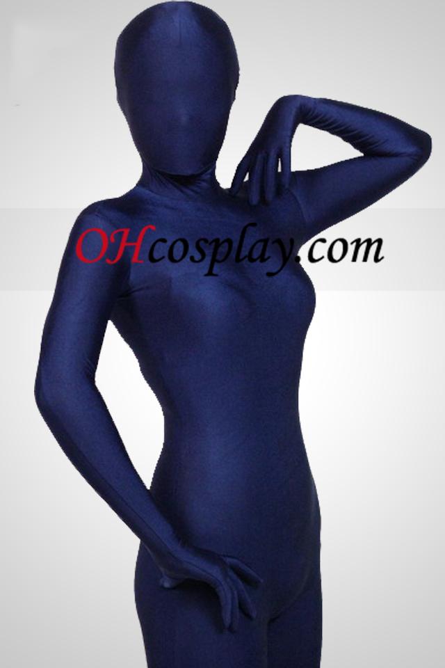 Mørkeblå Full Body Lycra Spandex Zentai Suit