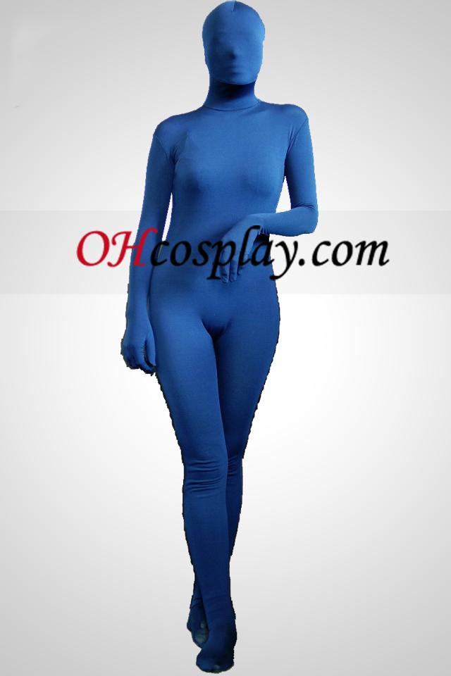 Blau Lycra Spandex Zentai-Anzug