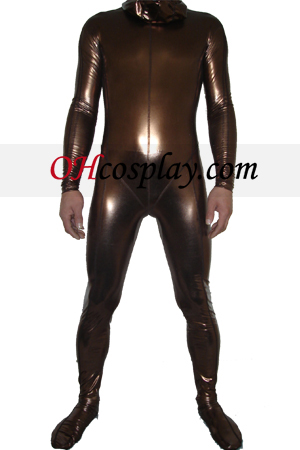 Brown brilhante metálico Zentai Suit