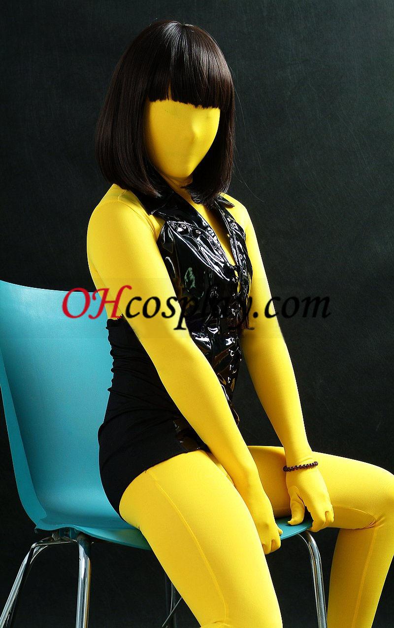 노란색 남녀 공통 모양 Zentai는